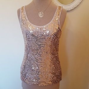H&M Gold Sequined Tank Top